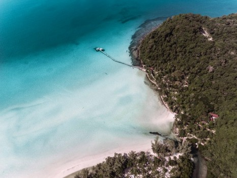 Private Beach Aerial 2 by Eva Aullon Alcaine and Fernando Martinez