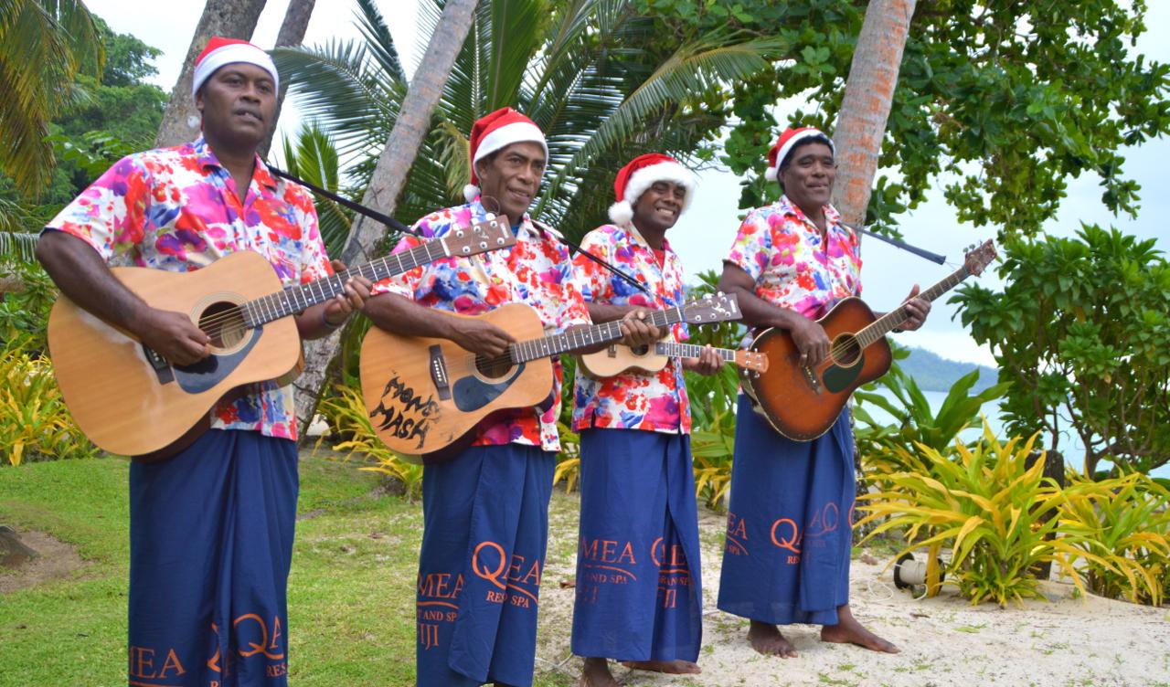 Qamea Resort staff singing carols