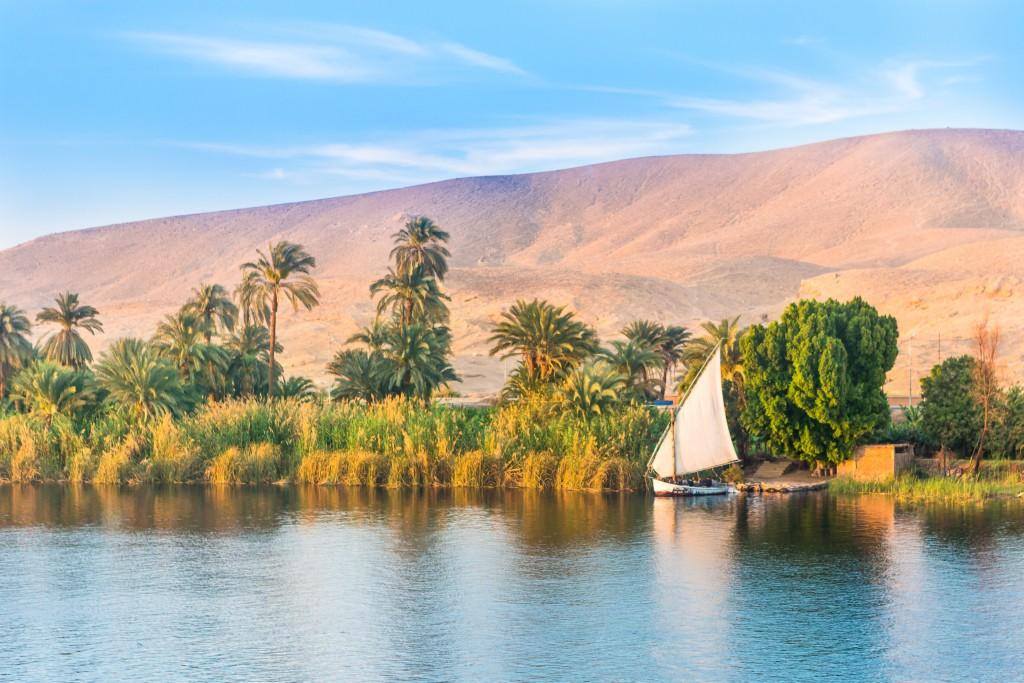 River Nile in Egypt.