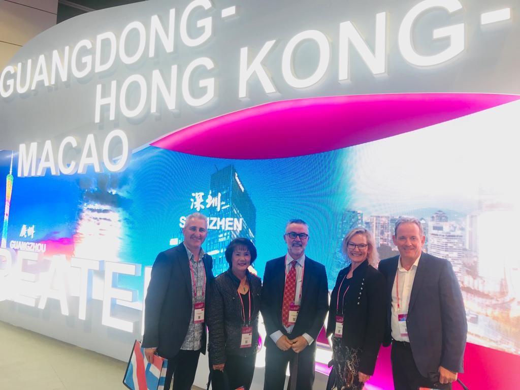 Michael Gazal (TravelManagers), Helen Wong (Helen Wong Tours), Andrew Clark (Hong Kong Tourism Board), Carlah Walton (Wendy Wu Tours) Paul Gorman (Luxury Escapes)