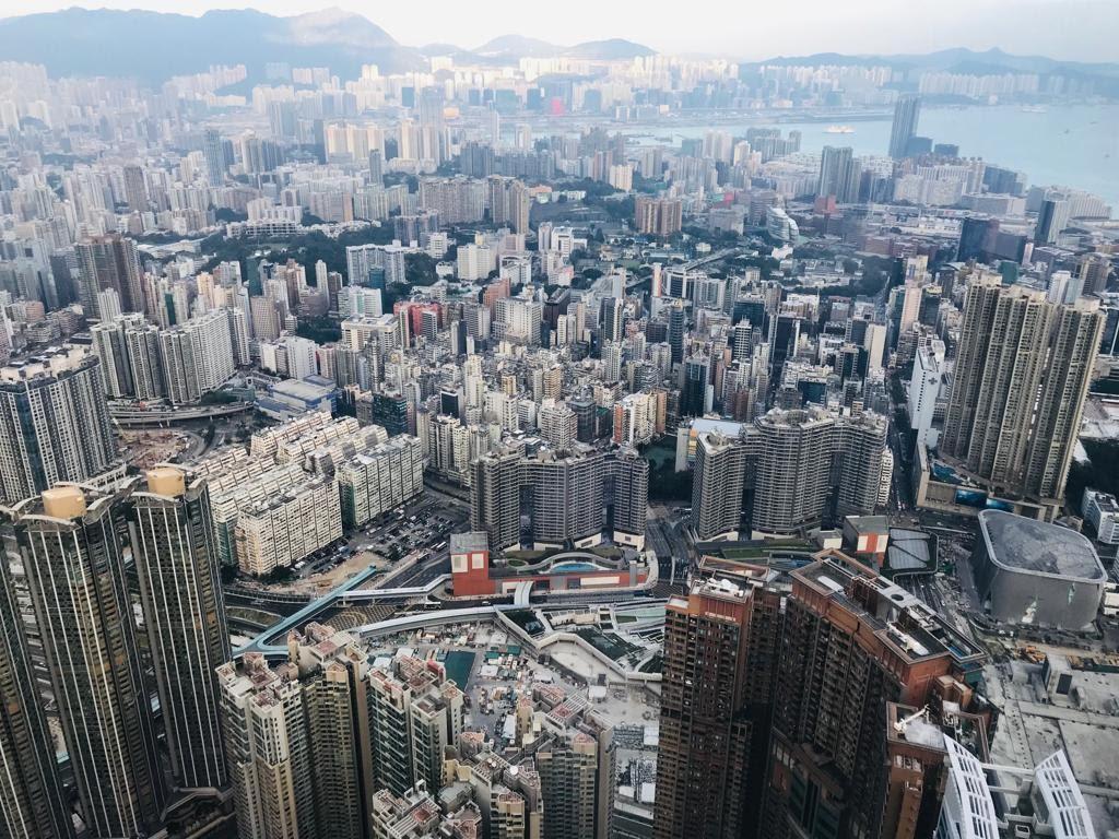 Stunning views from sky100 Hong Kong Observation Deck