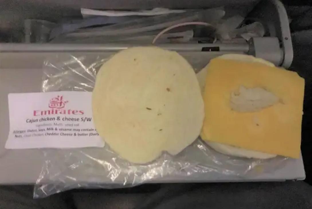 """Dry as the Sahara Desert"": Emirates passenger left furious over airline's sandwich"