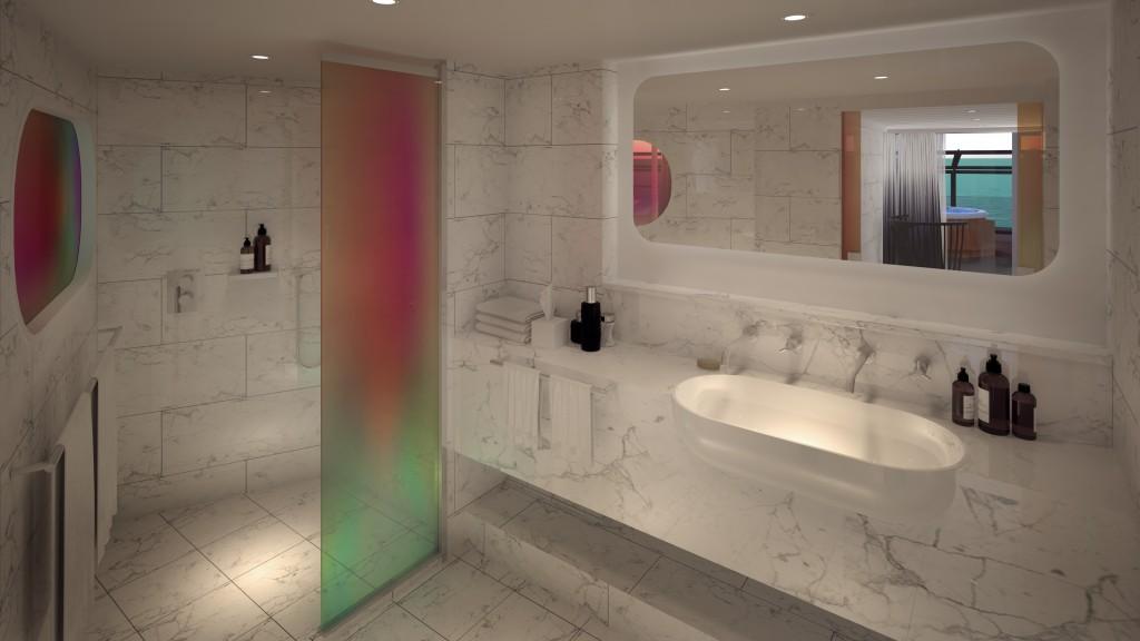 Massive Suite Peek-A-Boo Shower