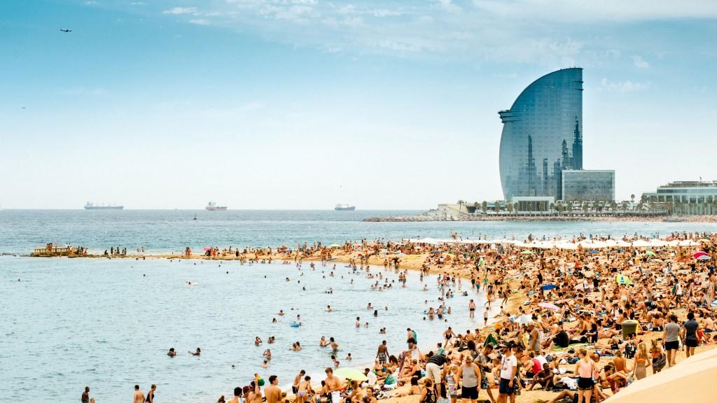 Barcelona Beach Panorama
