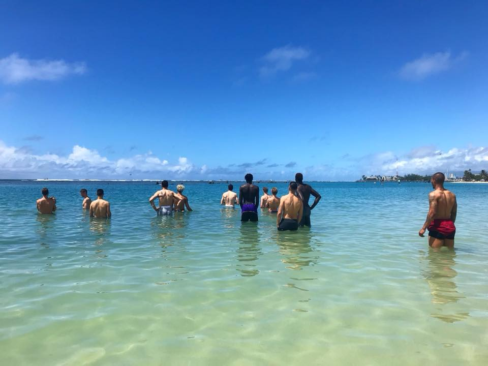 The Sydney Kings soaking up the sun in Honolulu last year ahead of their game against the LA Clippers.