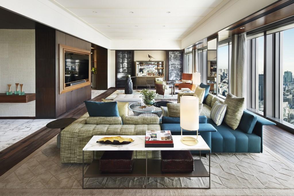 Mandarin Oriental, Tokyo_Presidential Suite_Living Room_1