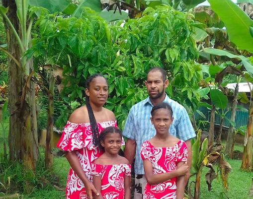 Nanuku Auberge Resort Fiji Anna Ratucoki with family