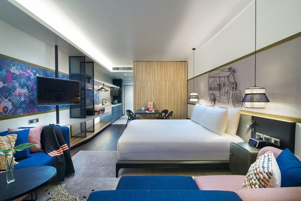 Shama Hub Prototype Room - Quad Studio - Dining Mode 1