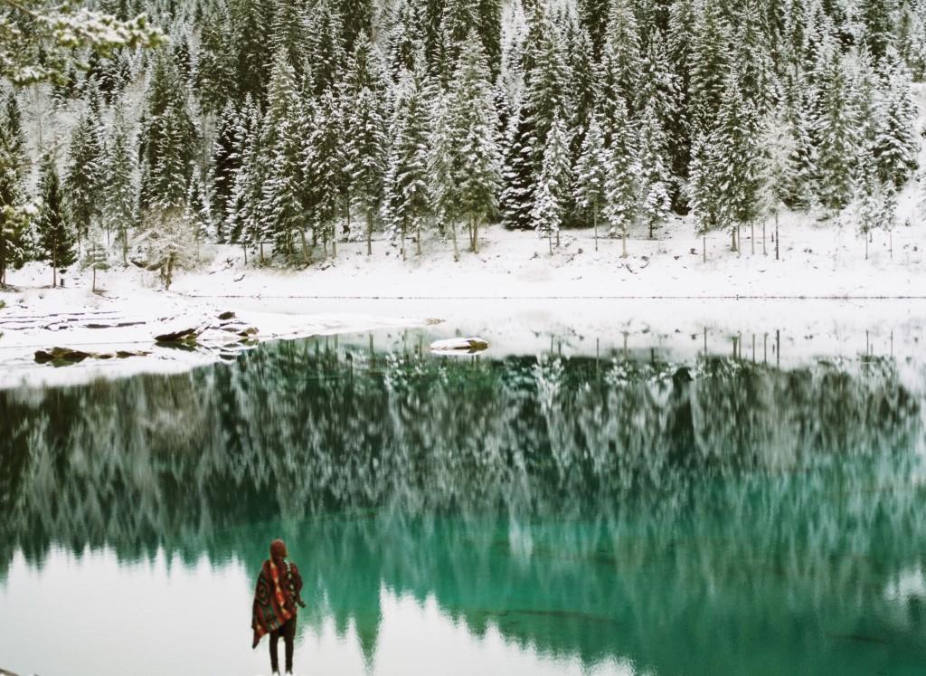 Cauma lake in Switzerland in winter