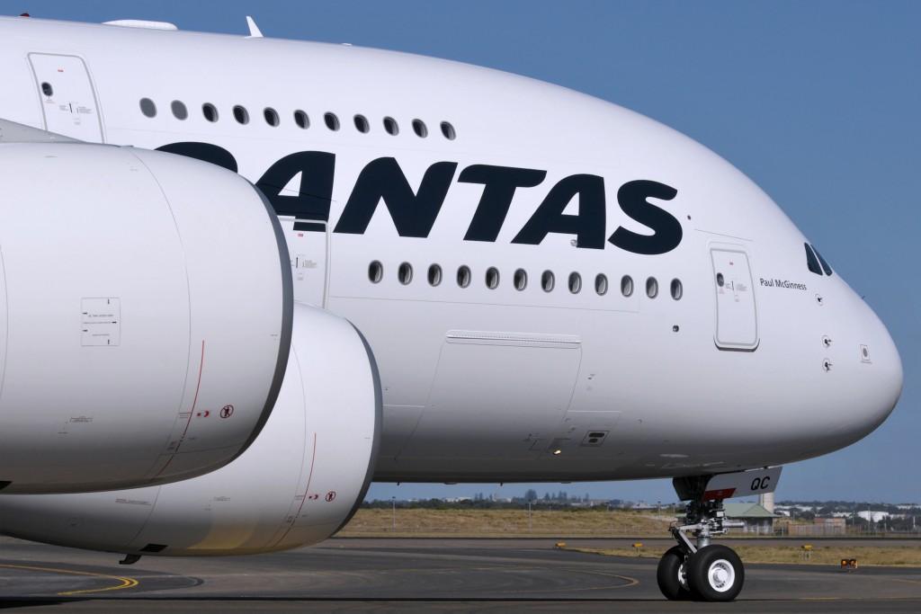 Qantas Airbus A380 Superjumbo in Sydney Australia