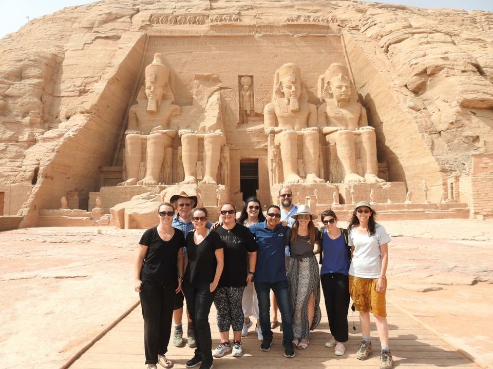 TC members at Abu Simbel