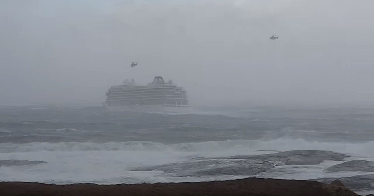 WATCH: Viking cruise ship reaches port safely after terrifying sea-rescue off the coast of Norway
