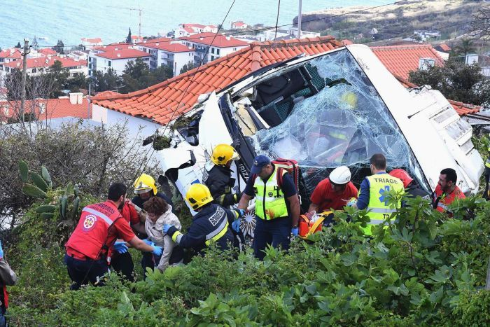 At least 29 people killed in Madeira tourist bus crash
