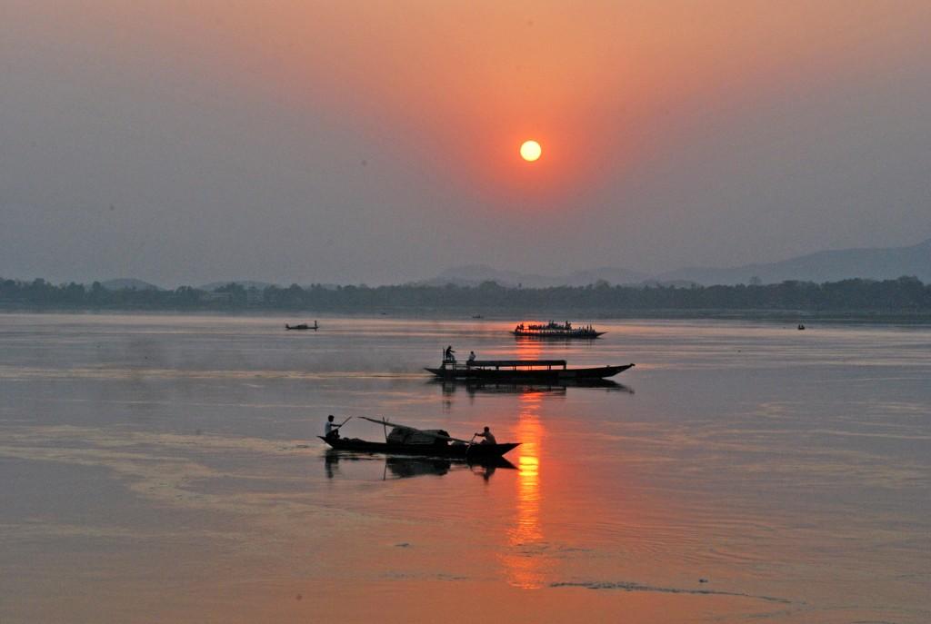 Brahmaputra River - sunset