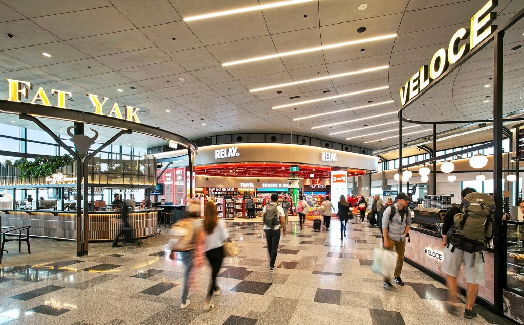 Lifestyle precinct unveiled at Sydney Airport's T2 Domestic