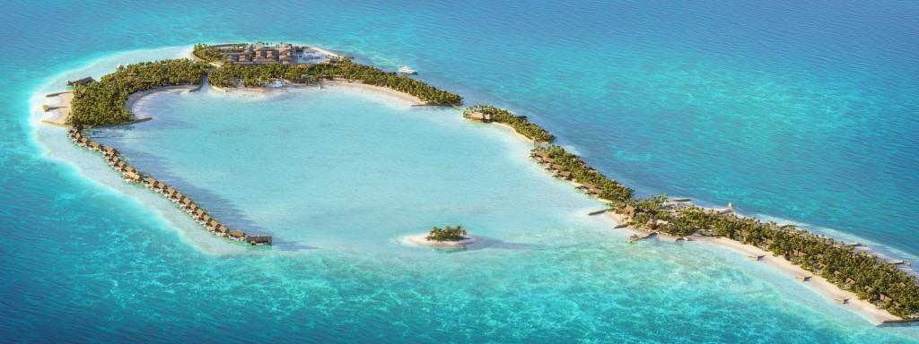 Waldorf Astoria Maldives Ithaafushi - Aerial View