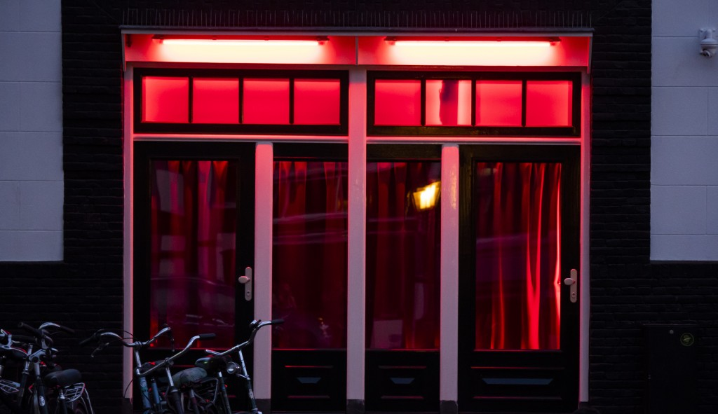 Red Light District doors in Amsterdam - Netherlands