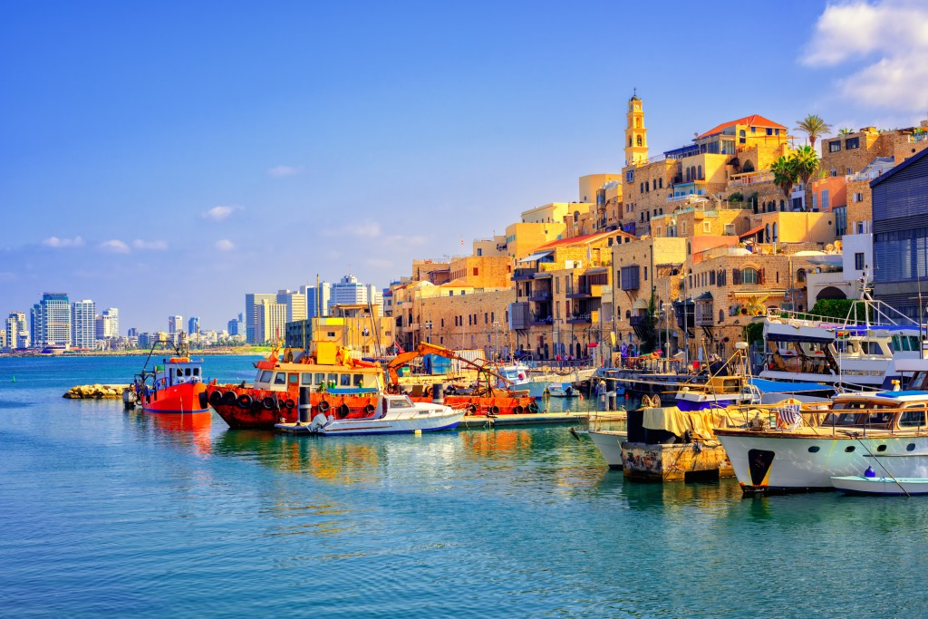 Old Town and port of Jaffa, Tel Aviv city, Israel. Tel Aviv was recently ranked the 25th best destination in the world, in TripAdvisor's Travellers' Choice Awards.