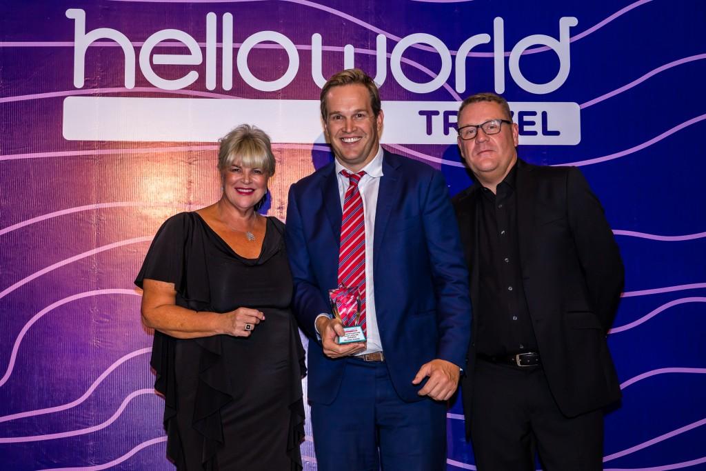 Julie Primmer (Helloworld Travel Limited), Nick Ferguson (Princess Cruises), John Constable (Helloworld Travel Limited)