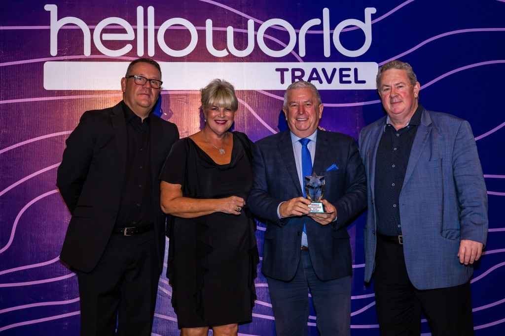 John Constable (Helloworld Travel Limited), Julie Primmer (Helloworld Travel Limited), Ian Mollison – Helloworld Travel Balwyn North and Andrew Burnes (Helloworld Travel Limited)
