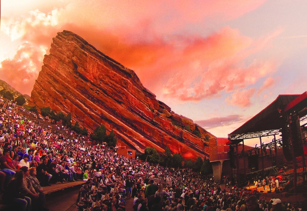 Tourists visiting Denver should make it their mission to catch a concert at the Red Rocks Amphitheatre.