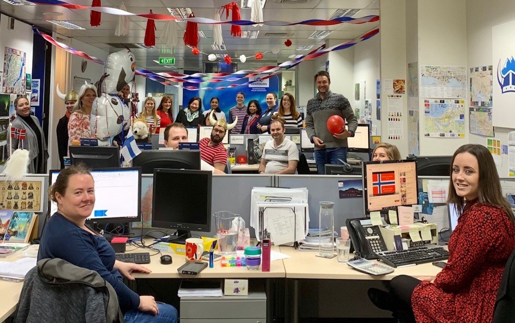 Bentours joined in the celebrations on 17 May with a friendly competition of desk decorations in their Melbourne office. (Pictured: Bentours reservations, operations and marketing departments.)