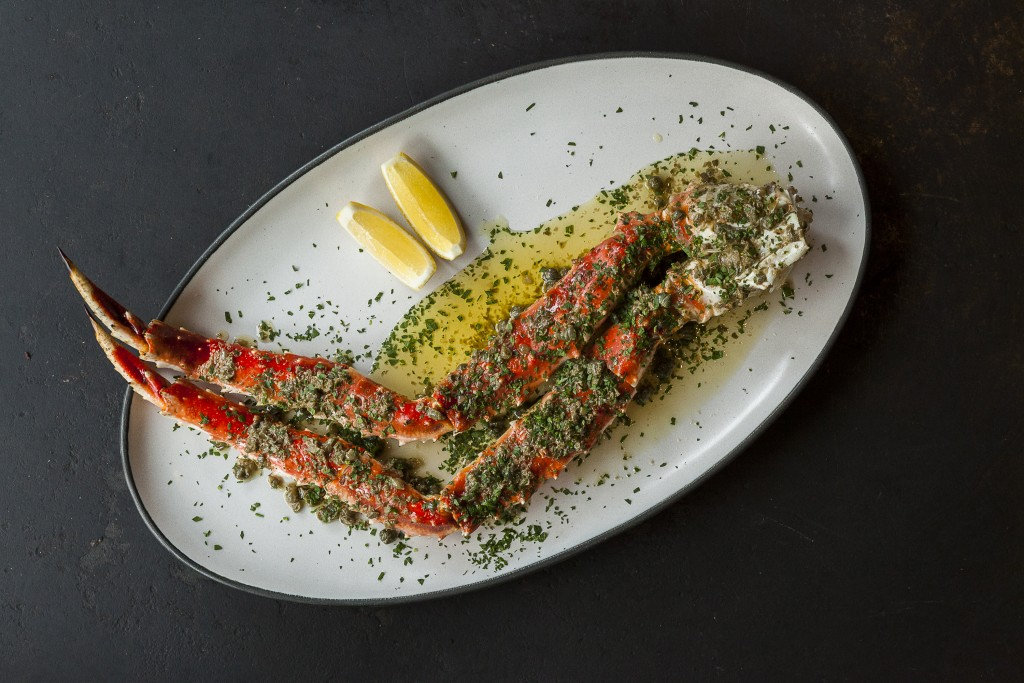 King Crab and Garlic Brown Butter at The Ledge