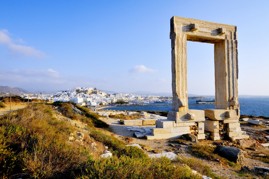 The Portara or Temple of Apollo of Naxos Island, is believed to be the islet of Palatia - an important location in Greek Mythology.
