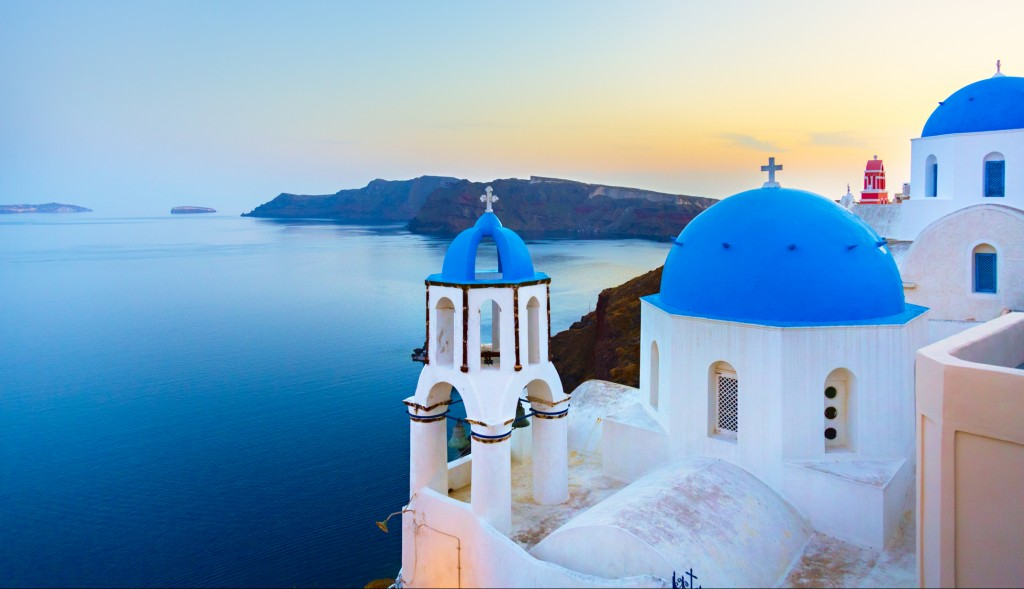 Church in Oia, Santorini, Greece.