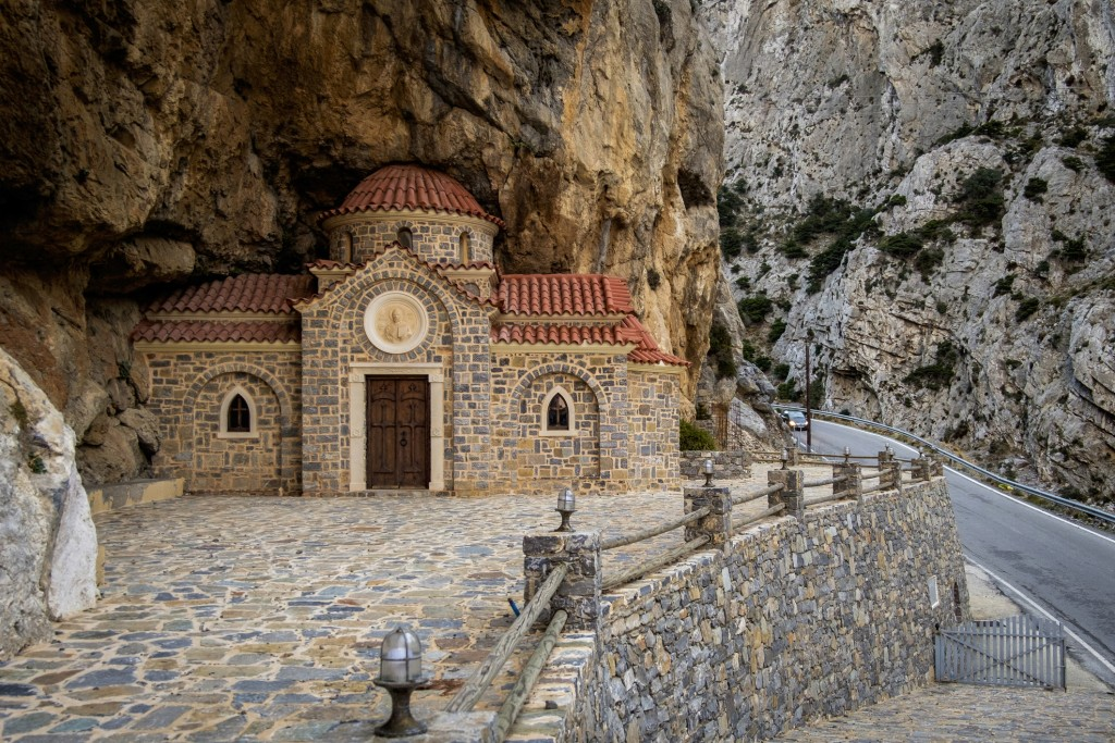 Agios Nikolaos church, Kotsifou Canyon, Crete, Greece