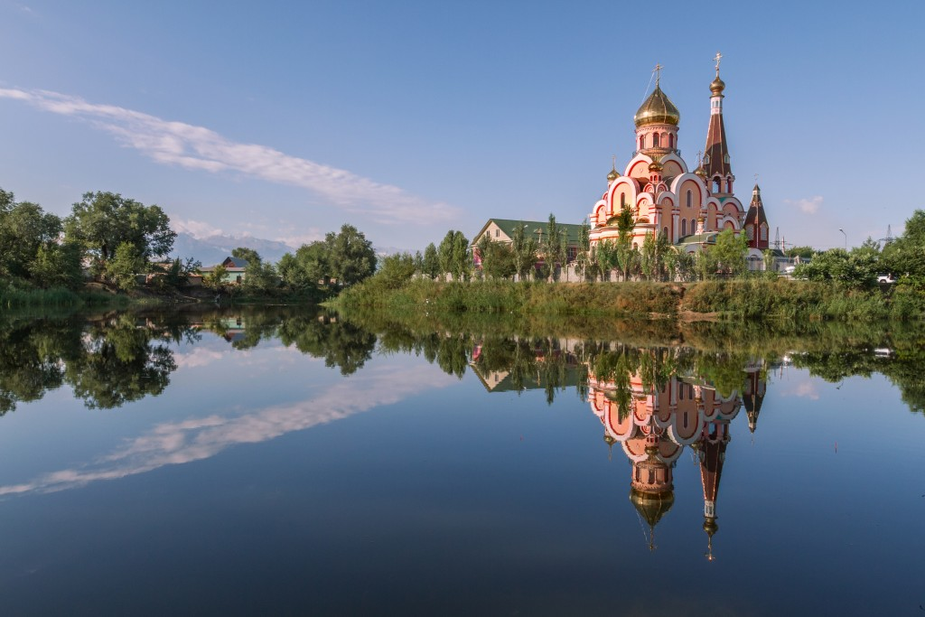 On day 21 of the Silk Road Railway tour, clients will visit Almaty, Kazakhstan and its Zenkov Cathedral.