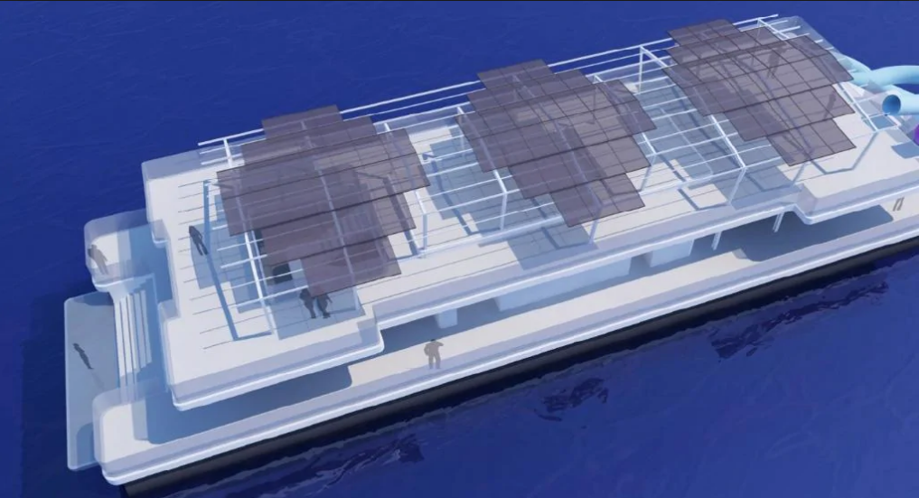 An artist's impression of the pontoon