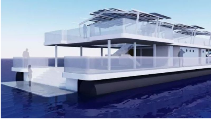 An artist's impression of the pontoon.