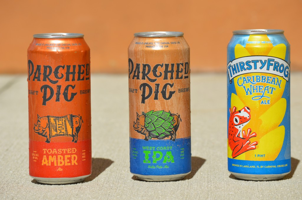 ParchedPig Toasted Amber Ale, ParchedPig West Coast IPA, ThirstyFrog Caribbean Wheat