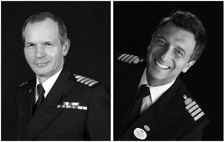 The masters of Enchanted Princess Captain Nick Nash and Captain Gennaro Arma