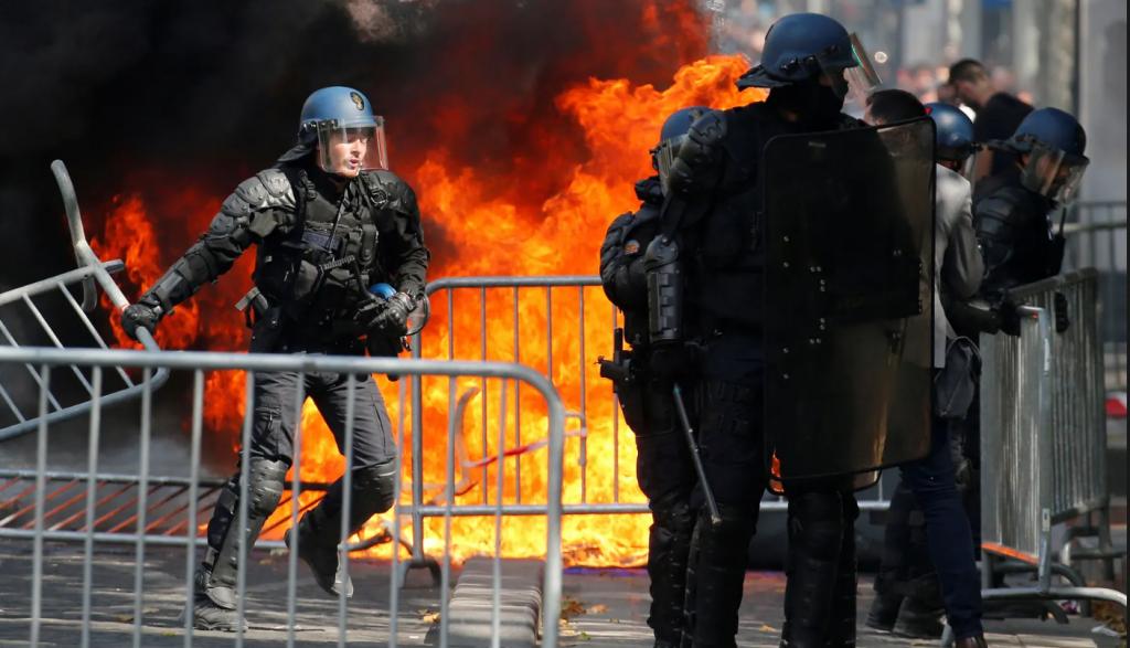 Bastille Day protest