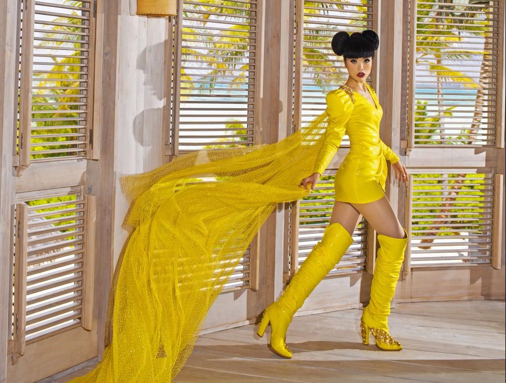 Jessica Minh Anh wears Youssef Kamoun 3