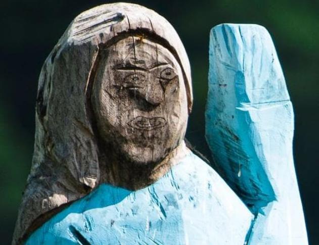 Melania Trump statue Slovenia