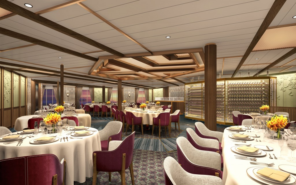 Seabourn Expedition Ships - The Restaurant Rendering Reduced