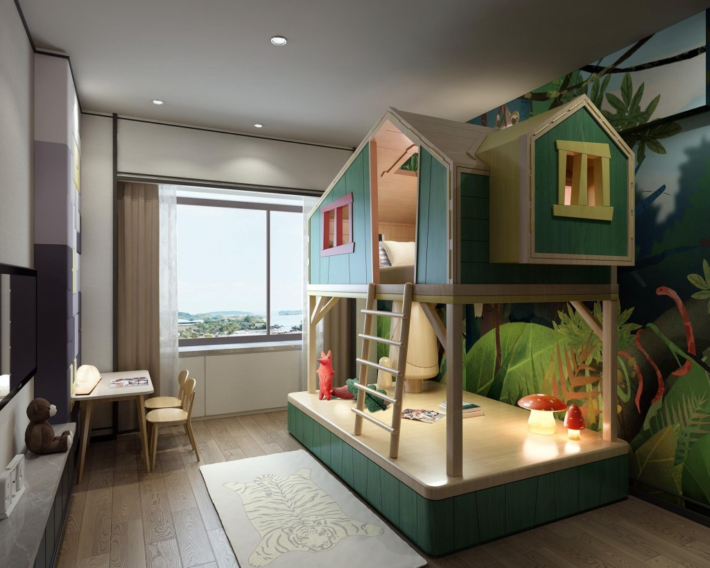 Tree house, a Family Themed Family Suite at Shangri-La Hotel, Harbin low res