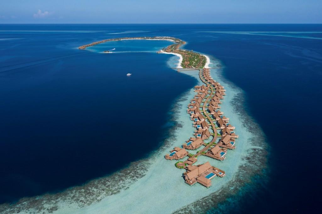 Waldorf Astoria Maldives Ithaafushi - Aerial 01