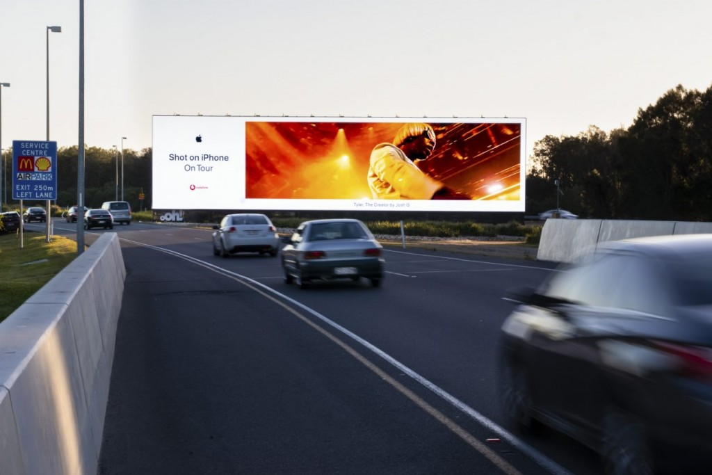 'Big Morety' digital billboard at Brisbane Airport