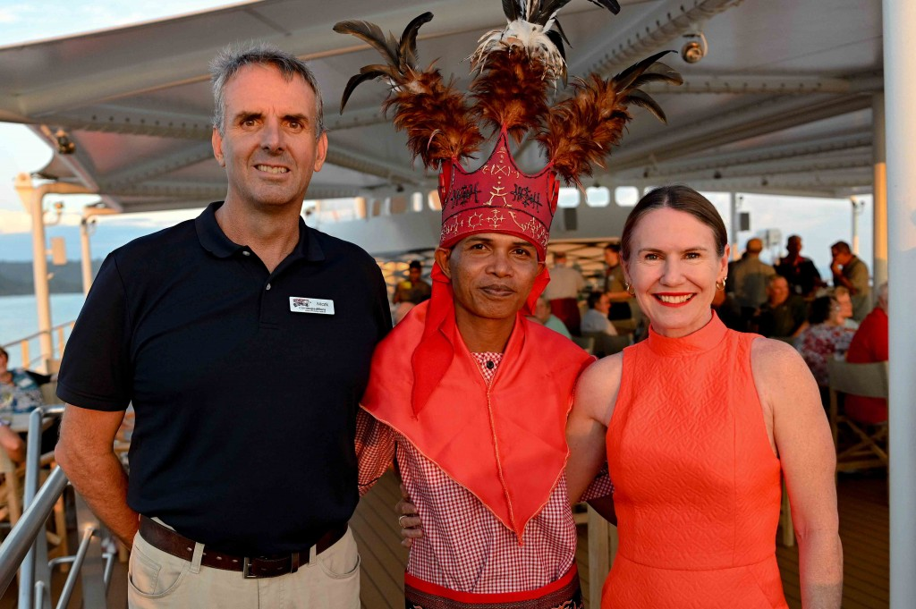 CE_Mark Fifield and wife with King Saparua onboard Coral Adventurer