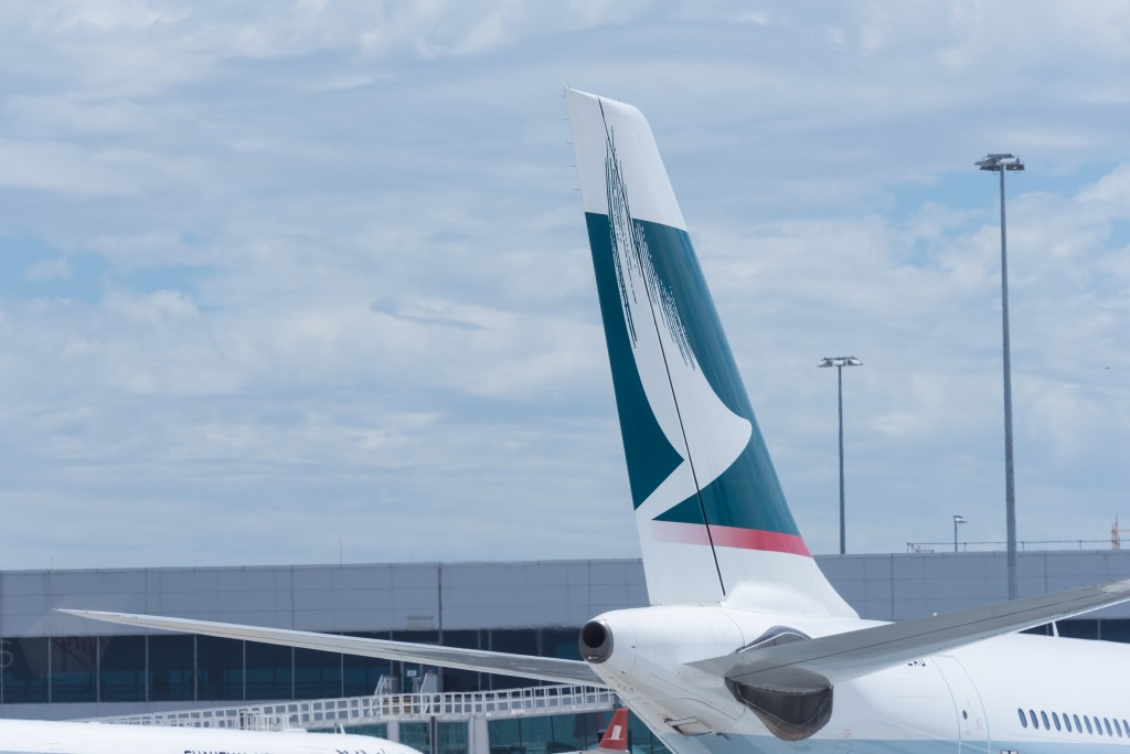 Cathay Pacific jet at Melbourne Airport