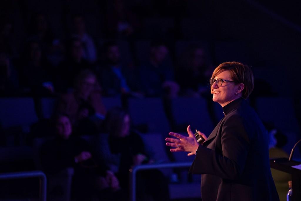 Leanne Harwood, regional managing director Intercontinental Hotel Group, speaking at Travel DAZE 2019