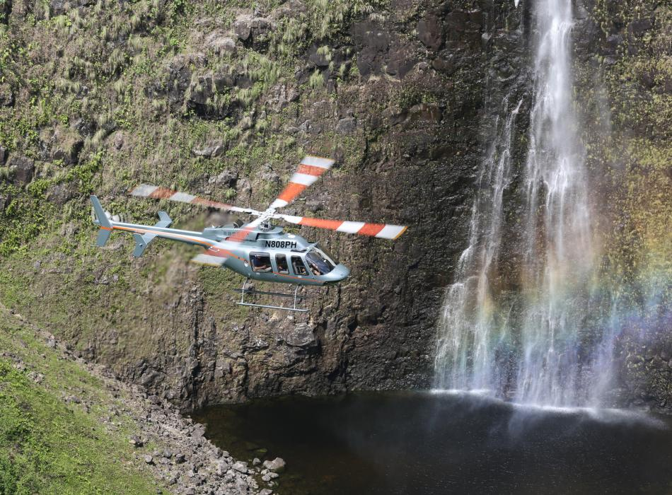 Helicopter in Hawaii