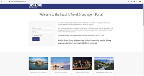 SeaLink Agent Portal