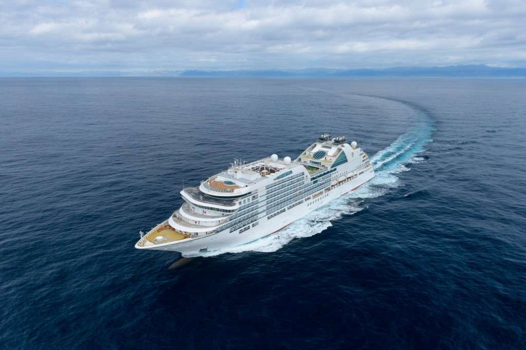 Seabourn Ovation Exterior Aerial Shot