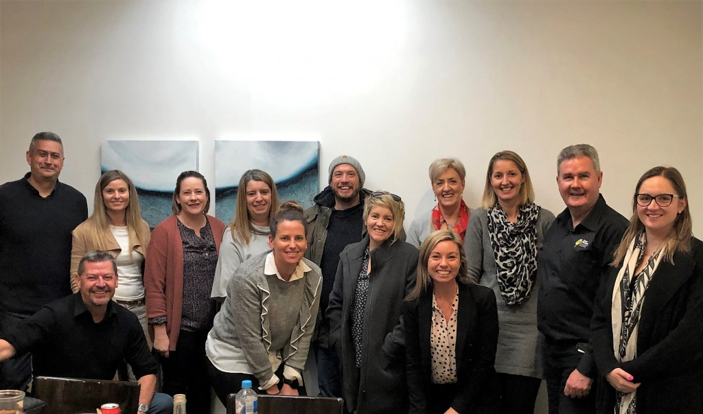 Pictured (L to R): (back row) TravelManagers' Jose Canas with PTMs Lauren Oliver, Allison McDonald Sue Jackson, Brad Dunstan, Jan Marshall, Jo Seal, David Brown, Hayley Summerhayes; (front row) David McCarthy, Kate Reghenzani, Pauline Campbell and Leah McGrath.