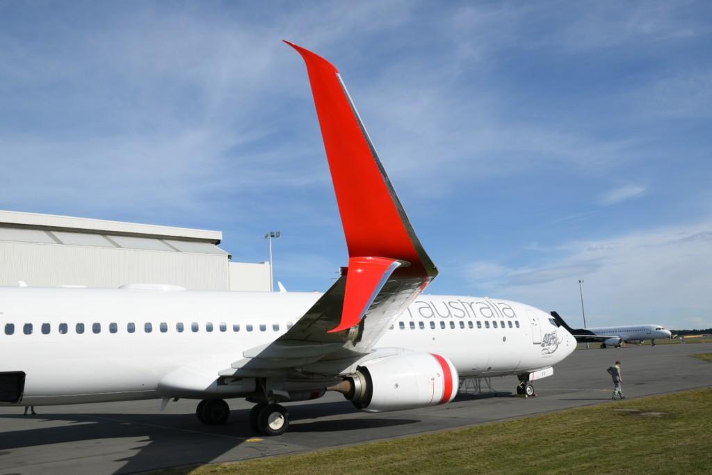 Virgin Australia split scimitar winglets